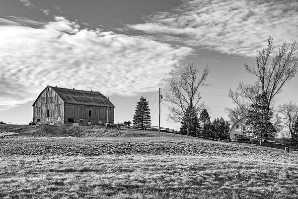 Hockley Valley Photograph - Ontario Farm 3 Bw by Steve Harrington