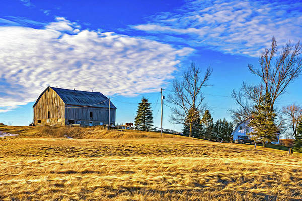 Hockley Valley Photograph - Ontario Farm 3 - Paint by Steve Harrington