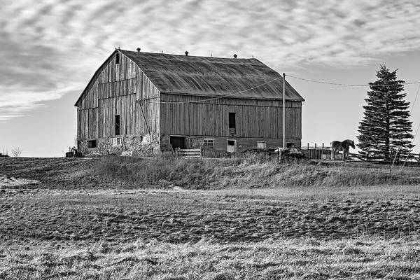 Hockley Valley Photograph - Ontario Farm 4 Bw by Steve Harrington