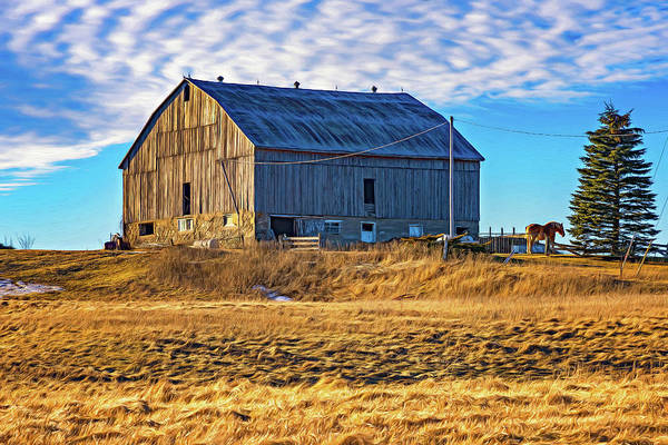 Hockley Valley Photograph - Ontario Farm 4 - Paint by Steve Harrington