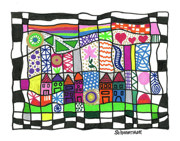Drawing - Oodles Of Doodles by Susan Schanerman