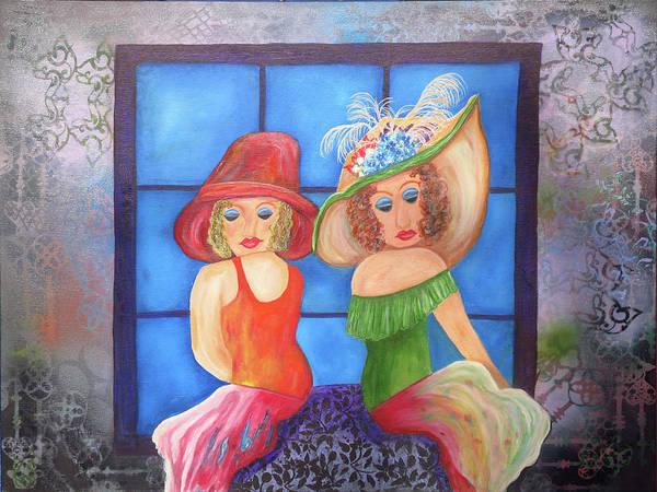 Wallpaper Mixed Media - Oooh La La by Mikki Alhart