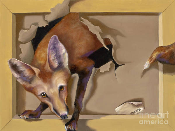Painting - Oops I Was Looking For The Hen House by Susan A Becker