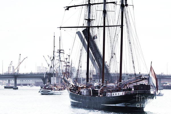 Photograph - Oosterschelde Leaving Port by Stephen Mitchell