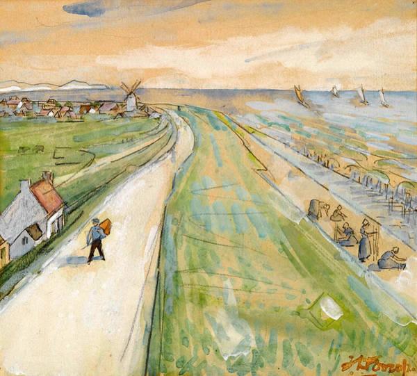 Drawing - Oostvoorne by Jan Toorop