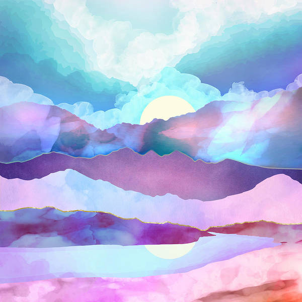 Wall Art - Digital Art - Opal Mountains by Spacefrog Designs