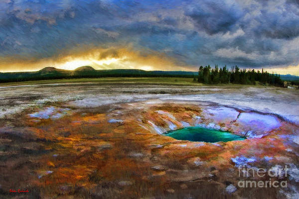 Photograph - Opal Pool Yellowstone by Blake Richards
