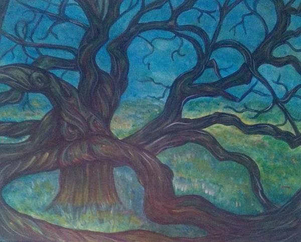 Angel Oak Painting - Open Arms by Lyndelle Hinkle