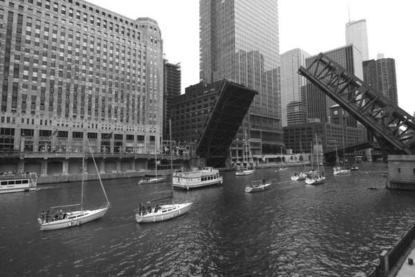 Photograph - Open Bridges In Chicago by Sven Brogren