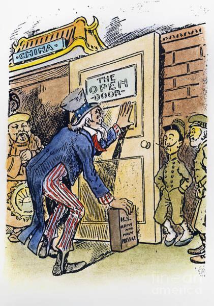 Photograph - Open Door Cartoon, C1900 by Granger