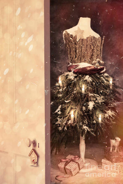 Dress Form Photograph - Open Door Into Christmas by Amanda Elwell