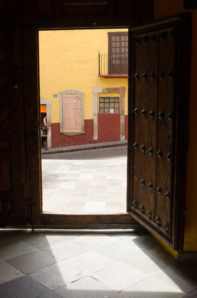 Photograph - Open Door Looking Out by Rob Huntley