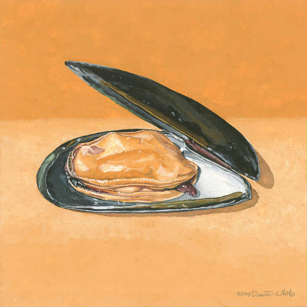 Painting - Open Mussel by Dominic White