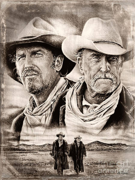 Wall Art - Drawing - Open Range Sepia 2 by Andrew Read