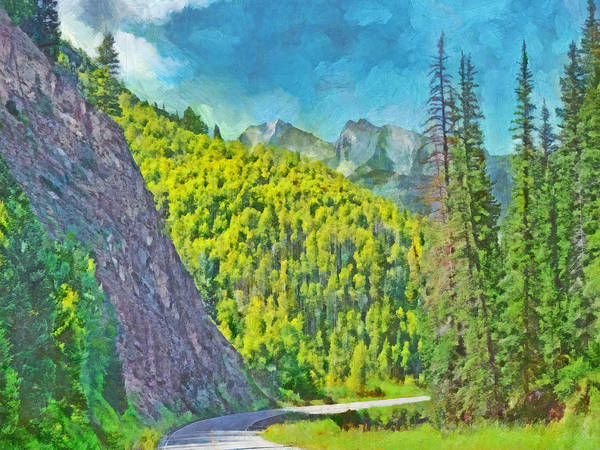 Digital Art - Open Road In The Colorado Rocky Mountains by Digital Photographic Arts