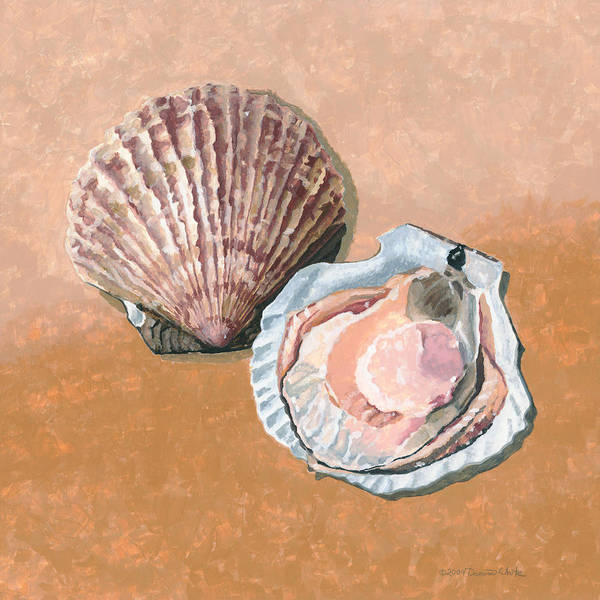 Painting - Open Scallop by Dominic White