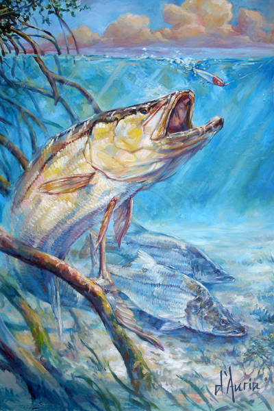 Angler Wall Art - Painting - Open Season by Tom Dauria