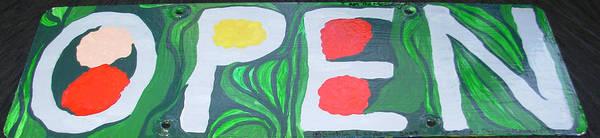 Painting - Open Sign by Sophia Landau
