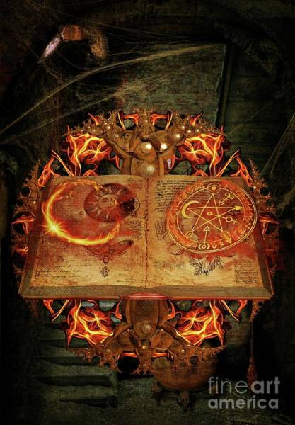 Wall Art - Digital Art - Open The Book Of The Occult by Pierre Blanchard