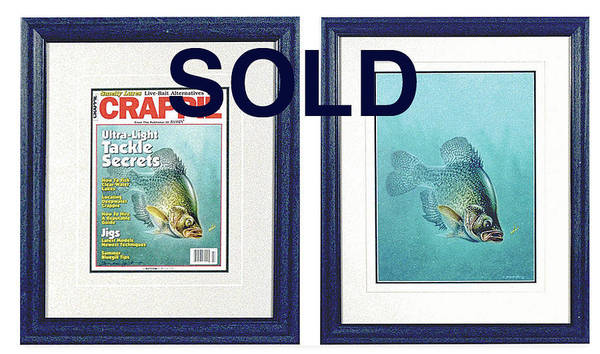 Wall Art - Painting - Open Water Crappie by JQ Licensing