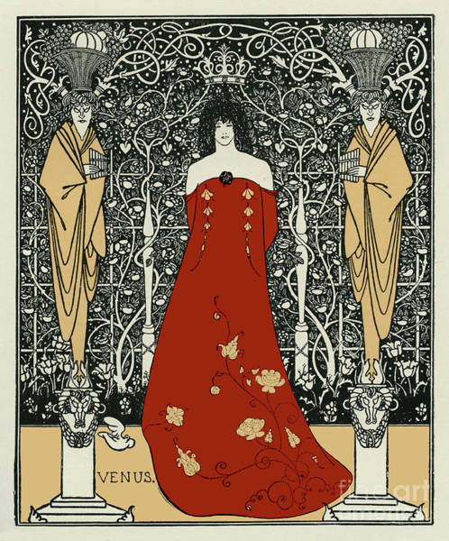 Wall Art - Drawing - Opening Act Of Venus And Tannhauser  by Aubrey Beardsley
