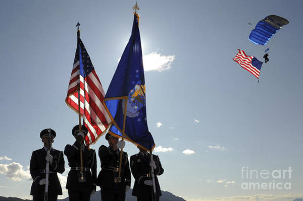 Honor Guard Photograph - Opening Ceremony Of The 2009 Aviation by Stocktrek Images