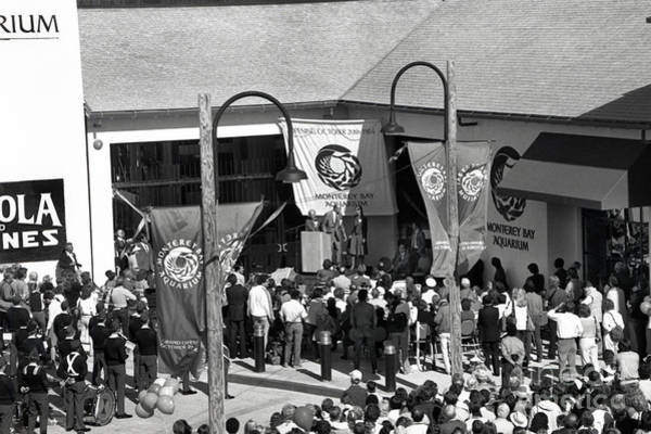 Photograph - Opening Day Of The Monterey Bay Aquarium  Oct. 20 1984 by California Views Archives Mr Pat Hathaway Archives