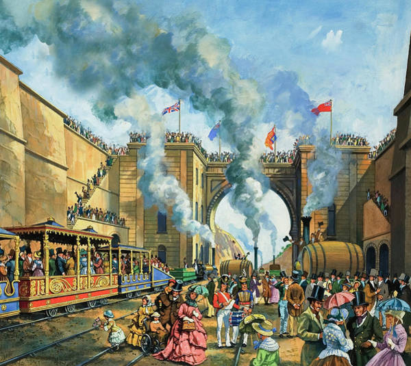 Invention Painting - Opening Of The Liverpool And Manchester Railway by Harry Green