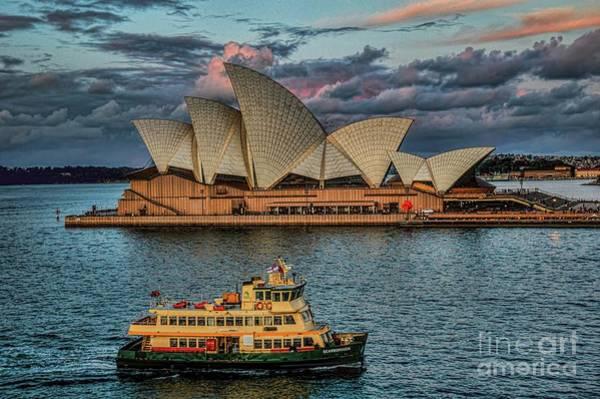 Photograph - Opera House Sunset by Diana Mary Sharpton
