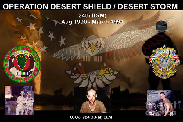 Mixed Media - Operation Desert Shield/storm by Bill Richards