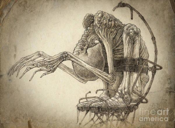 Rust Drawing - Operator by Kirill Semenov