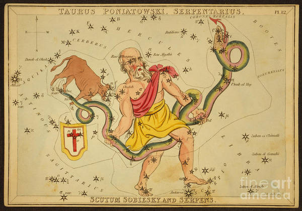 Wall Art - Photograph - Ophiuchus And Serpens Constellations by Science Source