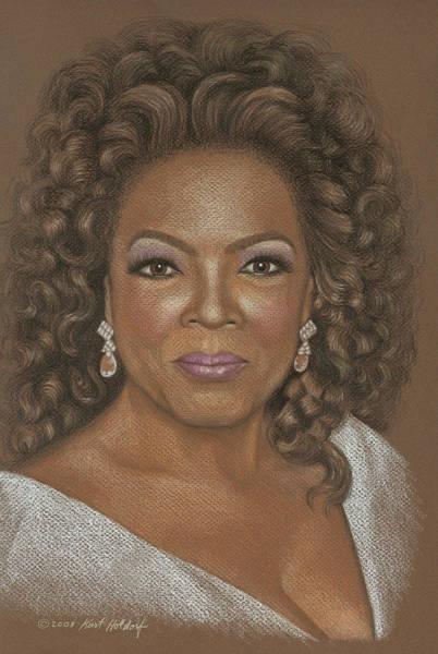 Oprah Wall Art - Drawing - Oprah by Kurt Holdorf