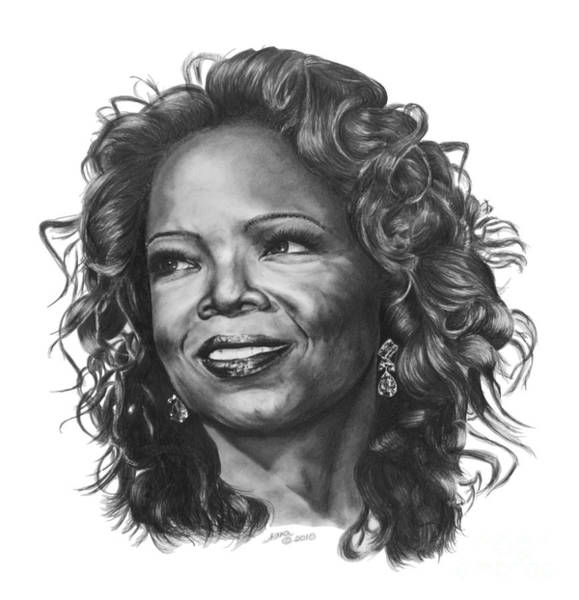 Drawing - Oprah by Marianne NANA Betts