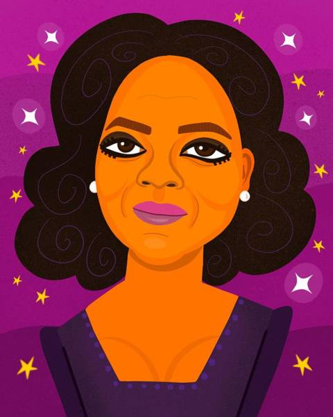 Oprah Wall Art - Digital Art - Oprah by Nicole Wilson