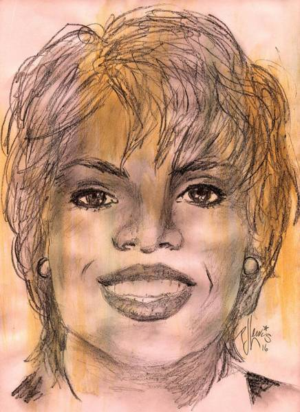 Oprah Wall Art - Drawing - Oprah by PJ Lewis