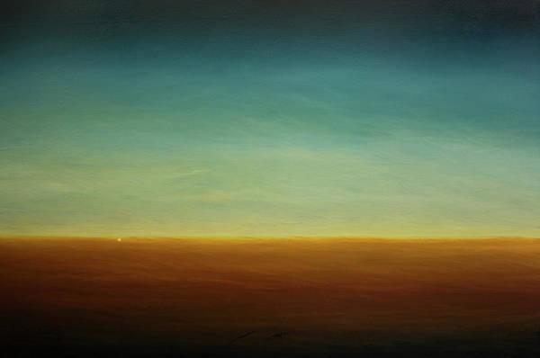 Wall Art - Painting - Opt.58.16 Moon Rise by Derek Kaplan