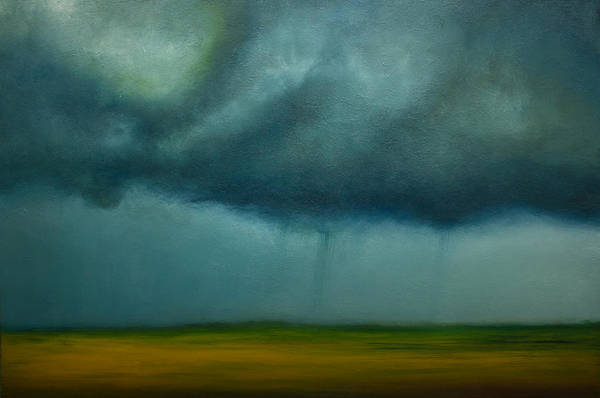 Wall Art - Painting - Opt.97.15. Storm by Derek Kaplan