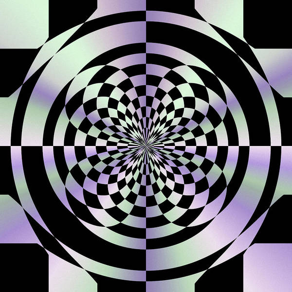 Optical Checkerboard Art Print