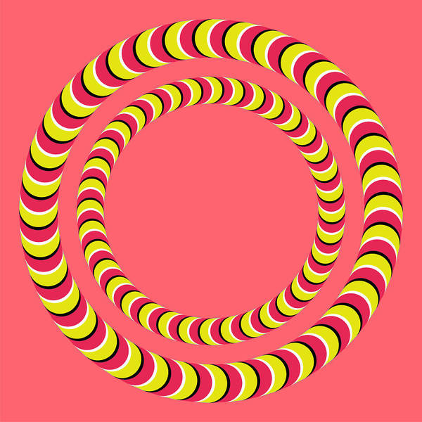 Rotating Digital Art - Optical Illusion Circle In Circle by Sumit Mehndiratta