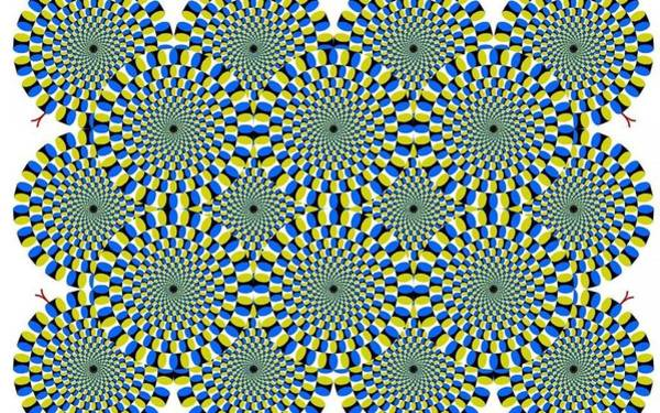 Rotating Digital Art - Optical Illusion Spinning Circles by Sumit Mehndiratta