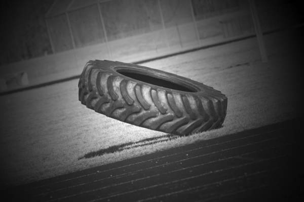 Photograph - Optical Illusions Tire  by Cathy Beharriell