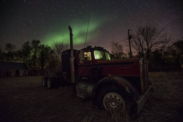 Semi Truck Photograph - Optimus Borealis  by Aaron J Groen