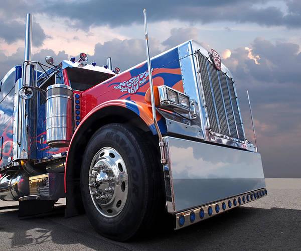 Peterbilt Photograph - Optimus Prime by Gill Billington