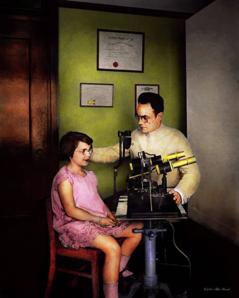 Photograph - Optometrist - The Eye Exam 1929 by Mike Savad