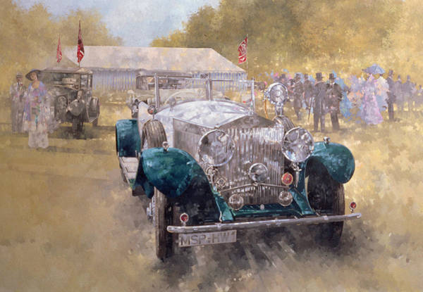 Rally Car Wall Art - Painting - Opulence At Althorp by Peter Miller