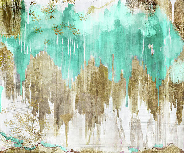 Dye Painting - Opulence Turquoise by Mindy Sommers