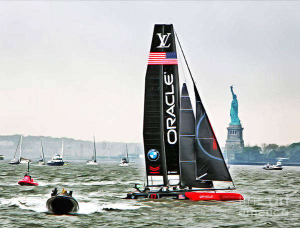 Spinnaker Photograph - Oracle Team Usa America's Cup New York 2 by Nishanth Gopinathan