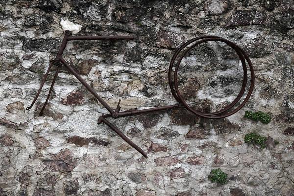 Pedal Car Wall Art - Photograph - Oradour Sur Glane 'rusty Bike' by Marcus Kett