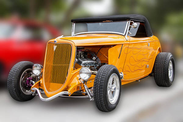 Photograph - Orange 1934 Ford by Bob Slitzan